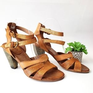 Miz Mooz Verona Collection Bronze Strappy Sandals